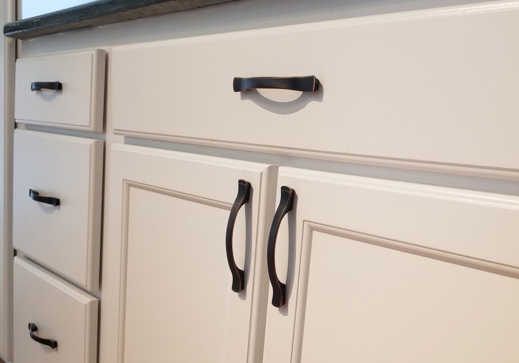New cabinet hardware
